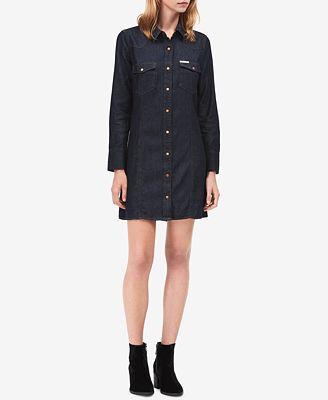 Calvin Klein Jeans Cotton Denim Shirtdress