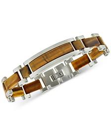 Tiger's Eye Bracelet in Stainless Steel