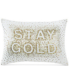 Whim by Martha Stewart Collection Stay Gold 14'' x 20'' Decorative Pillow, Created for Macy's