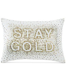 CLOSEOUT! Whim by Martha Stewart Collection Stay Gold 14'' x 20'' Decorative Pillow, Created for Macy's