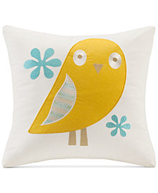 "INK+IVY Kids' Woodland Embroidered 16"" Square Decorative Pillow"
