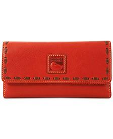 Florentine Pebble Leather Checkbook Organizer