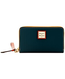 Zip Around Pebble Leather Wristlet