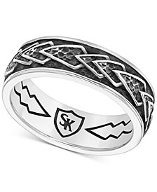 Scott Kay Men's Engraved Chevron Band in Sterling Silver