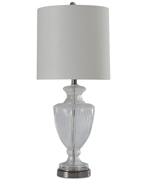Stylecraft Ridged Clear Glass Table Lamp Lighting Lamps Home