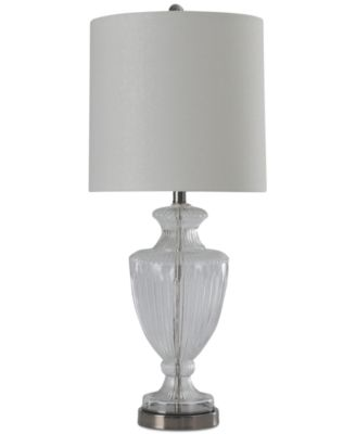 StyleCraft Ridged Clear Glass Table Lamp