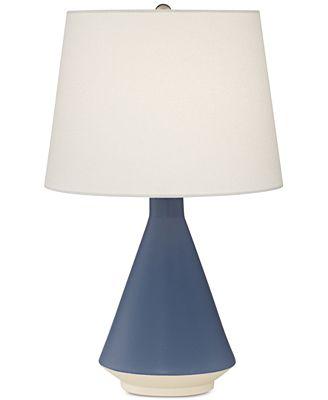 Pacific coast blue ceramic table lamp
