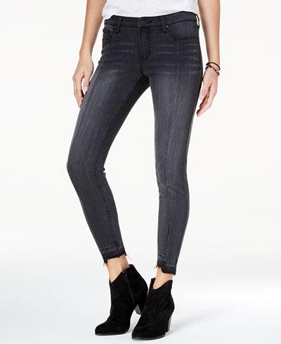 Celebrity Pink Juniors' Raw-Hem Skinny Ankle Jeans