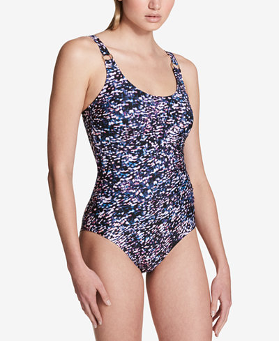 Calvin Klein Starry Night One-Piece Swimsuit,Created for Macy's Style