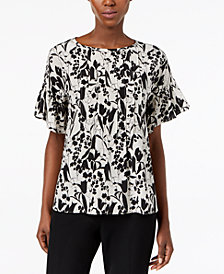 Weekend Max Mara Toronto Printed Silk Top