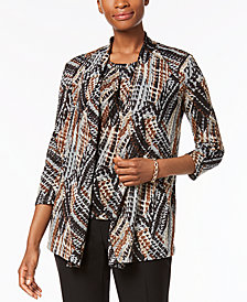 Kasper Abstract-Print Jacket