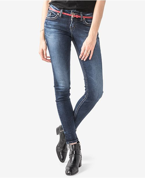 Silver Jeans Co. Juniors' Suki Super-Skinny Jeans