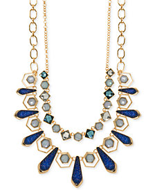 Ivanka Trump Gold-Tone Stone and Glitter Two-Layer Necklace