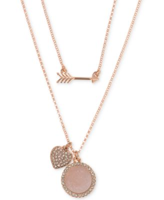 Ivanka Trump Rose GoldTone TwoinOne MultiCharm Pendant Necklace