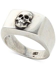 Men's Skull Ring in Sterling Silver