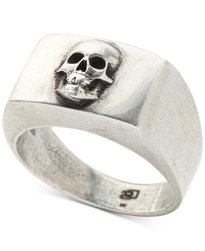 DEGS & SAL Men's Skull Ring in Sterling Silver