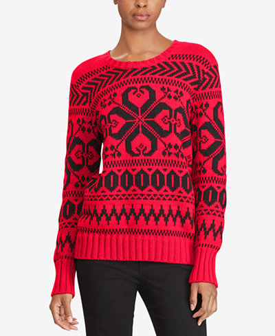Lauren Ralph Lauren Fair Isle Sweater - Sweaters - Women - Macy's