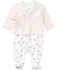 Ralph Lauren Bear 3-Pc. Cotton Set, Baby Girls