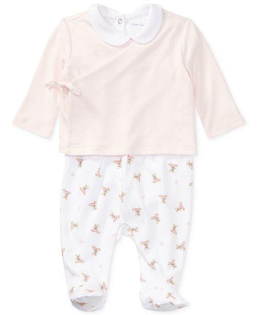 f0ddaceb510fa ... Polo Ralph Lauren Ralph Lauren Baby Girls Bear 3-Pc. Cotton Set ...