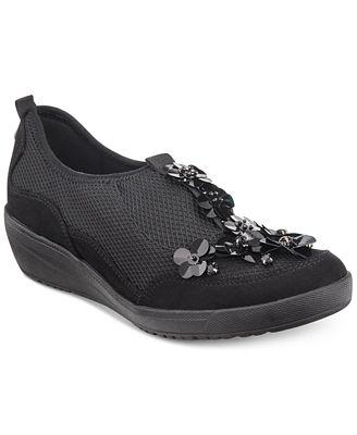 Anne Klein Yael Embellished Slip-On Sneakers