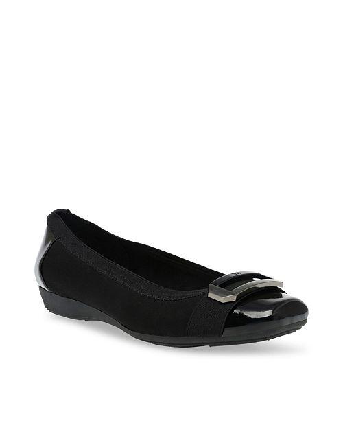 2272f8eb37b Anne Klein Sport Uplift Buckle Flats   Reviews - Flats - Shoes - Macy s