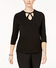 Kasper Cutout-Neck Top