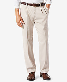 Dockers Men's  Stretch Classic-Fit Pleated Easy Khaki Pants