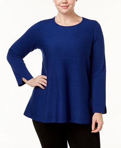 Alfani Plus Size Tunic Sweater, Created for Macy's