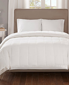 Madison Park Cambria Twin Down Alternative Blanket, Embossed Oversized Reversible Quilted Microfiber with 3M Scotchgard™