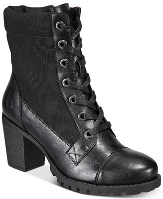 XOXO Carley Lace-Up Booties