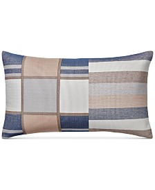 "CLOSEOUT! Hotel Collection Patchwork 14"" x 24"" Cotton Decorative Pillow, Created for Macy's"