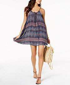 Roxy Sun Surf Medallion-Print Dress Cover-Up
