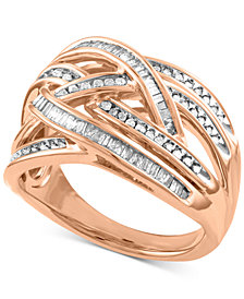 Diamond Overlap Crisscross Ring (1/2 ct. t.w.)