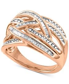 Diamond Overlap Crisscross Ring (1/2 ct. t.w.)