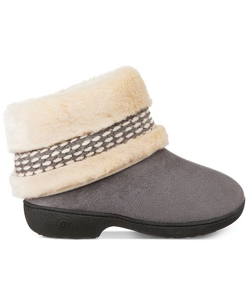 f41066277 Isotoner Signature Women's Erica Microsuede Boot Slippers & Reviews ...