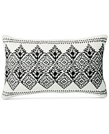 "Lucky Brand Embroidered Diamond 16"" x 26"" Decorative Pillow"