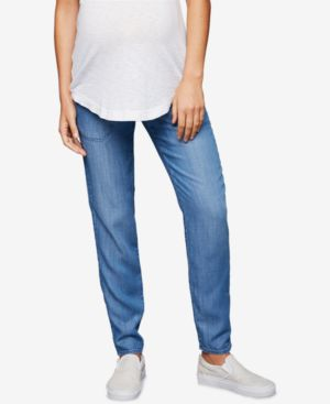 Image of A Pea In The Pod Maternity Chambray Jogger Pants