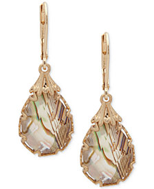 lonna & lilly Gold-Tone Abalone Teardrop Drop Earrings