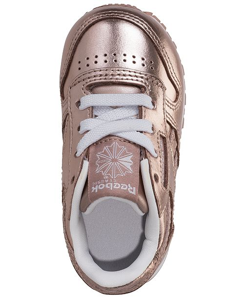 8f28506cb26 ... Reebok Toddler Girls  Classic Leather Metallic Casual Sneakers from  Finish ...