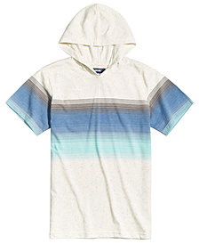 Univibe Striped T-Shirt Hoodie, Big Boys