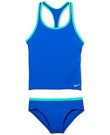 Nike 2-Pc. Racer-Back Sport Tankini Swimsuit, Big Girls