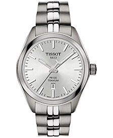Tissot Women's Swiss T-Classic PR 100 Gray Titanium Bracelet Watch 33mm