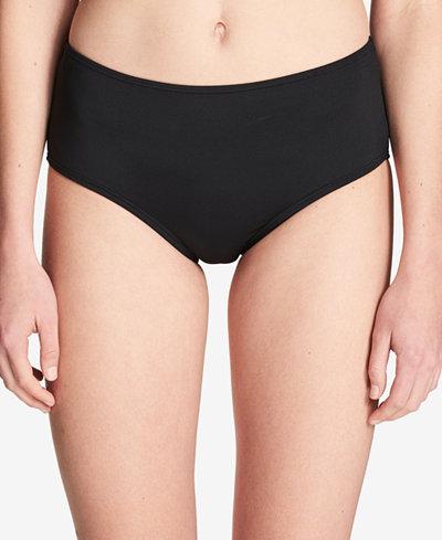 Calvin Klein Mid-Rise Tummy-Control Swim Bottoms