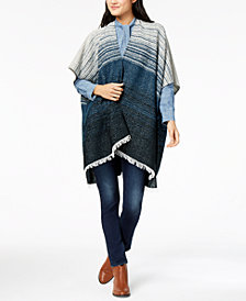 Lucky Brand Striped Fringe-Trim Kimono