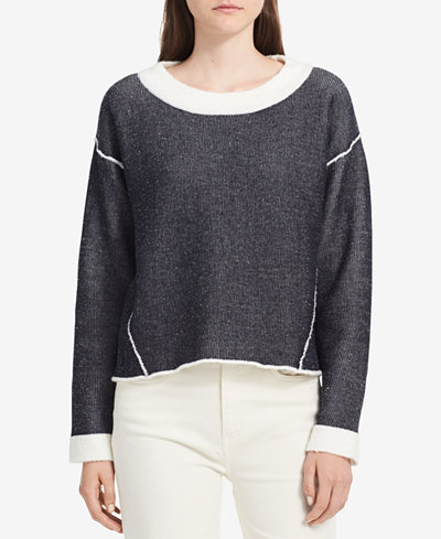 Calvin Klein Jeans Long-Sleeve Contrast Sweater