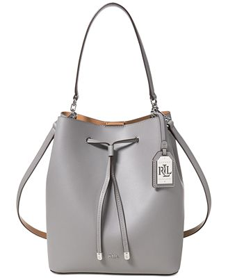 Lauren Ralph Lauren Debby Leather Drawstring Bag