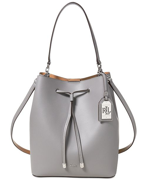 11c836facc5c Lauren Ralph Lauren Debby Leather Drawstring Bag   Reviews ...