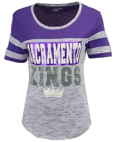 5th & Ocean Women's Sacramento Kings Space Dye Foil T-Shirt