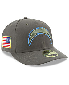 New Era Los Angeles Chargers Salute To Service Low Profile 59FIFTY Fitted Cap
