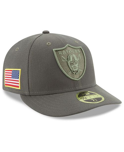 2867c225 New Era Oakland Raiders Salute To Service Low Profile 59FIFTY Fitted ...